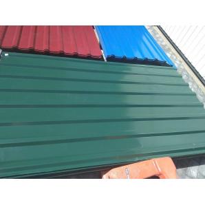 Профнастил некондиция Krovlya100 ПК-20 1150/1110 мм 0,35 мм 2 м PE глянец зеленый