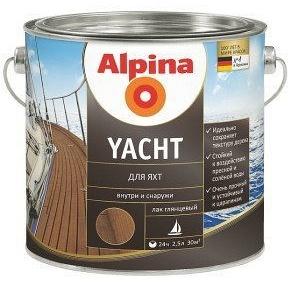 Лак специальный для яхт Alpina Yacht 10 л