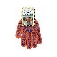 Перчатки TM DOLONI трикотаж ОРАНЖ с ПВХ универсал 7 класс 10 размер