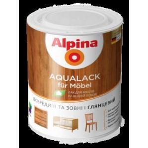 Лак для мебели Alpina Aqualack fur Möbel шелковисто-матовый 0,75 л