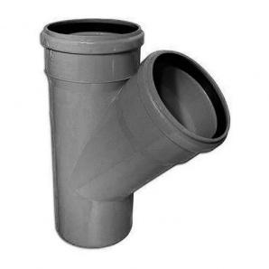 Тройник канализационной системы вн. 110/110 мм 45 градусов