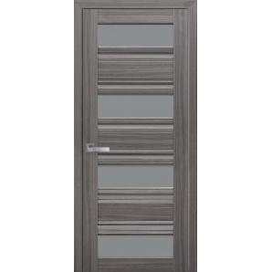 Дверное полотно Новый стиль Итальяно ВЕНЕЦИЯ С2 жемчуг графит стекло графит 700 мм SmartCover
