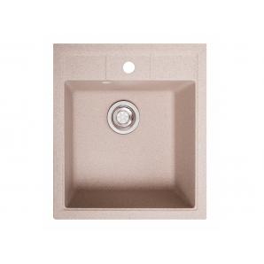 Мойка искусственный камень Solid БРИЗ 460х515 розовый песок (с отверстием под смеситель)