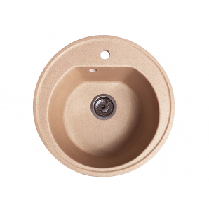 Мойка искусственный камень Solid КЛАССИК D510 латино беж (с отверстием под смеситель)