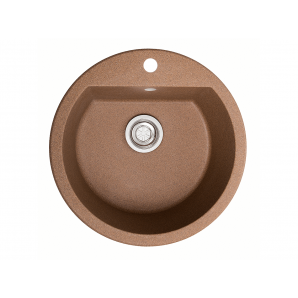 Мойка искусственный камень Solid РАУНД D510 терракот (с отверстием под смеситель)