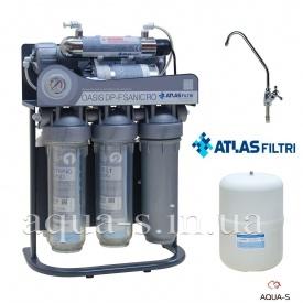 Система зворотного осмосу OASIS DP-F SANIC PUMP-UV з каркасом, насосом і УФ-лампою ATLAS FILTRI (SE6075362)
