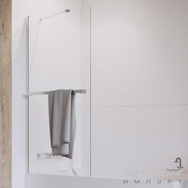 Шторка для ванни з тримачем рушника Radaway Idea PNJ 80 10001080-01-01W хром/прозоре скло