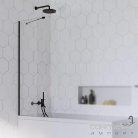 Шторка для ванни Radaway Idea Black PNJ 70 10001070-54-01 чорний/прозоре скло