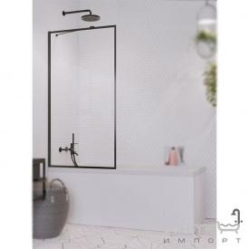 Шторка для ванны Radaway Idea Black PNJ 70 Frame 10001070-54-56 черный/прозрачное стекло