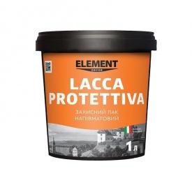 Защитный лак полуматовый LACCA PROTETTIVA ELEMENT DECOR 1 л