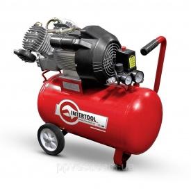 Компресор 50 л 3 кВт 220 В 8 атм 420 л/хв 2 циліндра INTERTOOL PT-0007