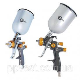 Краскопульт пневматический LVLP BRONZE профессиональный верхний металлический бачок INTERTOOL PT-0135