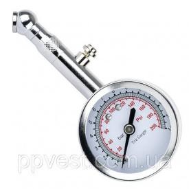 Измеритель давления в шинах стрелочный металлический корпус клапан сброса давления INTERTOOL AT-1004