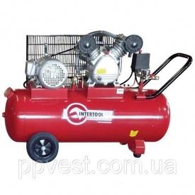 Компресор 100 л 3 кВт 380 В 8 атм 500 л/хв 2 циліндра INTERTOOL PT-0013