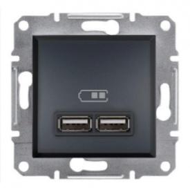 Розетка USB антрацит Schneider electric Asfora