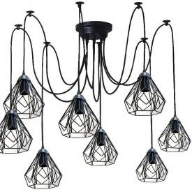 Люстра павук на дев'ять плафонів NL 538-9 MSK Electric