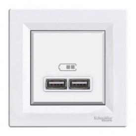 Розетка USB белая Schneider electriс Asfora