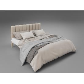 Металева ліжко Tenero Фуксія 1400х2000 мм з м'яким узголів'ям