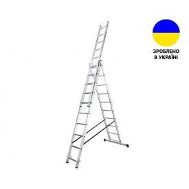 Трехсекционные лестницы Алюминиевая трехсекционная лестница 3х10 ступеней TRIOMAX VIRASTAR