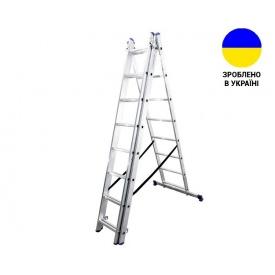 Трехсекционные лестницы Алюминиевая трехсекционная лестница 3х8 ступеней TRIOMAX VIRASTAR