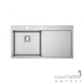 Кухонная мойка Fabiano TOP 89 R10 890х510 нержавеющая сталь чаша слева