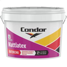 Миюча фарба для стель і стін Condor Mattlatex 1л