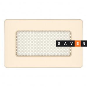 Вентиляционная решетка для камина SAVEN 11х17 кремовая