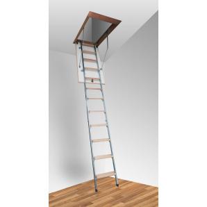 Чердачная лестница Altavilla Termo Metal 3S Pino 130x70 h280см