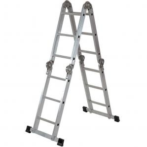Лестница-трансформер ELKOP 4х3 алюминиевая с платформой
