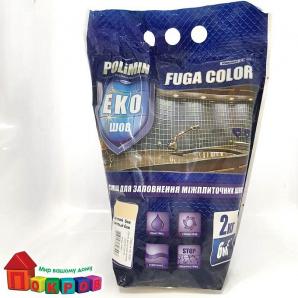 Затирка для швов Polimin Fuga 2 кг красно-кирпич