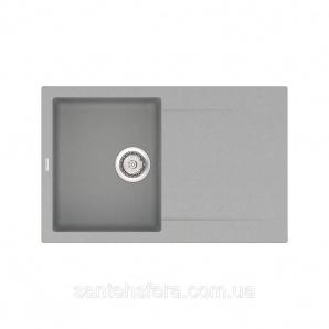 Кварцевая кухонная мойка VANKOR Orman OMP 02.78 Gray