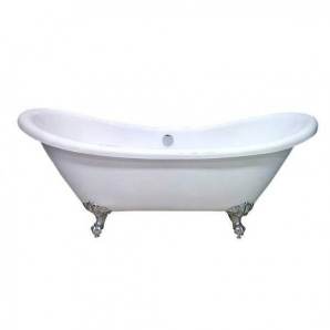 Акриловая ванна Atlantis C-3140 белая ножки бронза
