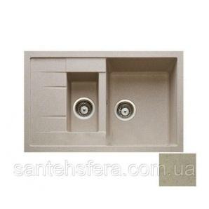 Гранитная кухонная мойка ADAMANT ANILA PLUS 780x500x200 мм Сахара