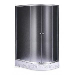 Душевой угол Sansa S120-80/15L 120х80х197 см асимметрия профиль сатин стекло фабрик