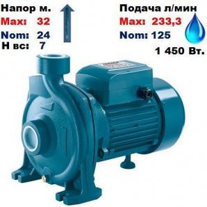 Насос відцентровий CPh-160B Насоси+ 32/24 м 125-233,3 л/хв 220 В 1450 Вт