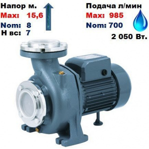 Насос відцентровий NF-130A Насоси+ 15,6/8 м 700-985 л/хв 220 В 2050 Вт