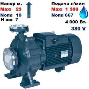 Насос відцентровий CP65-50/5 Насоси+ 23/19 м 667-1300 л/хв 380 В 4000 Вт