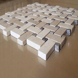 Декоративная мозаика Коллаж из мрамора полированная, лист 1х30,5х30,5