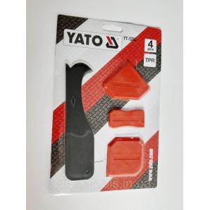 Набір шпателів для силікону Yato 4 шт