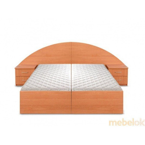 Ліжко двоспальне Новик (під 2 матраца 190х70)