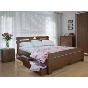 Ліжко Кантрі плюс 140х200 ясен