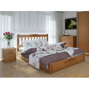 Ліжко Лузиана люкс 160х200 з підйомним механізмом ясен