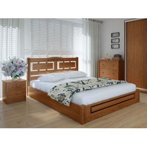 Ліжко Пальміра люкс 180х200 з підйомним механізмом ясен