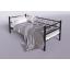 Металлическая кровать-диван Амарант Тенеро 900х2000 мм черный Киев