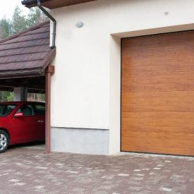 Автоматические подъемные секционные гаражные ворота ALUTECH Trend 3000×2375 мм