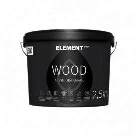Акриловая эмаль ELEMENT PRO WOOD для древесины 2,5 л