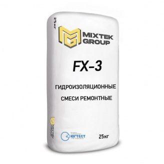 Суміш для гідроізоляційних видів ремонтних робіт FX-3 25 кг