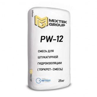 Суміш для виконання штукатурної гідроізоляції PW-12 торкрет-суміш 25 кг