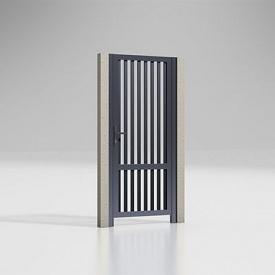 Калитка Alutech 68 мм разреженный профиль 37 мм антрацит (ADS703)