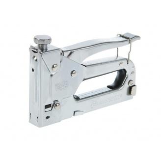 Степлер с регулятором для скоб 4-14мм стальной